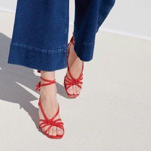 Loeffler Randall cherry red strappy Libby heels